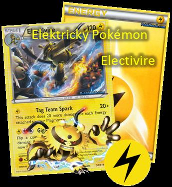 Elektrický bleskový Pokemon